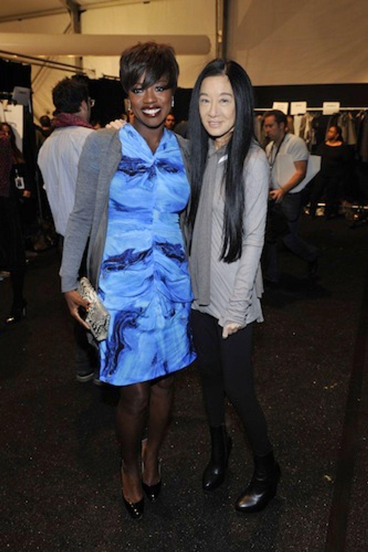 Viola Davis and André Leon Talley Talk Oscar Fashion at Vera Wang F/W '12