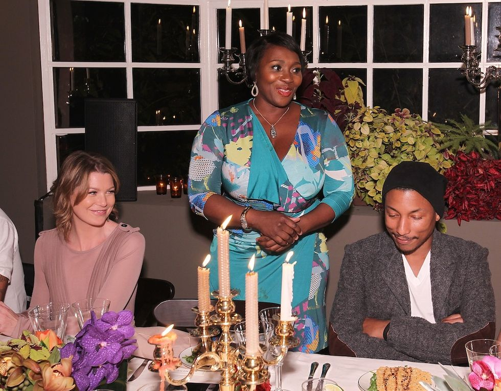 Cameron Diaz, Johnny Knoxville and Charlize Theron Toast Pharrell Williams with Target