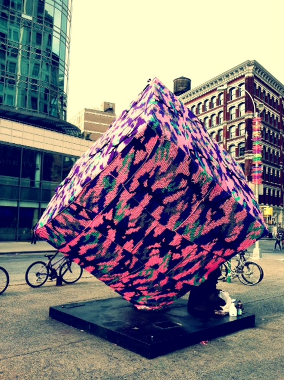 Olek Knits The Astor Place Cube A Fall Sweater!