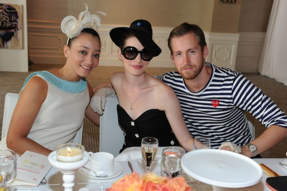 Funny Hats, Anne Hathaway and Lots of Champagne at Ruinart's Afternoon Tea and Auction in Los Angeles