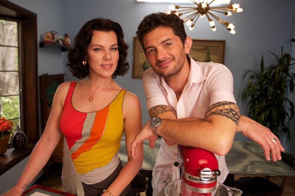 Debi Mazar and Hubby Gabriele Corcos of Extra Virgin Talk Hollywood, Danceteria & Madonna's Spaghetti Pot
