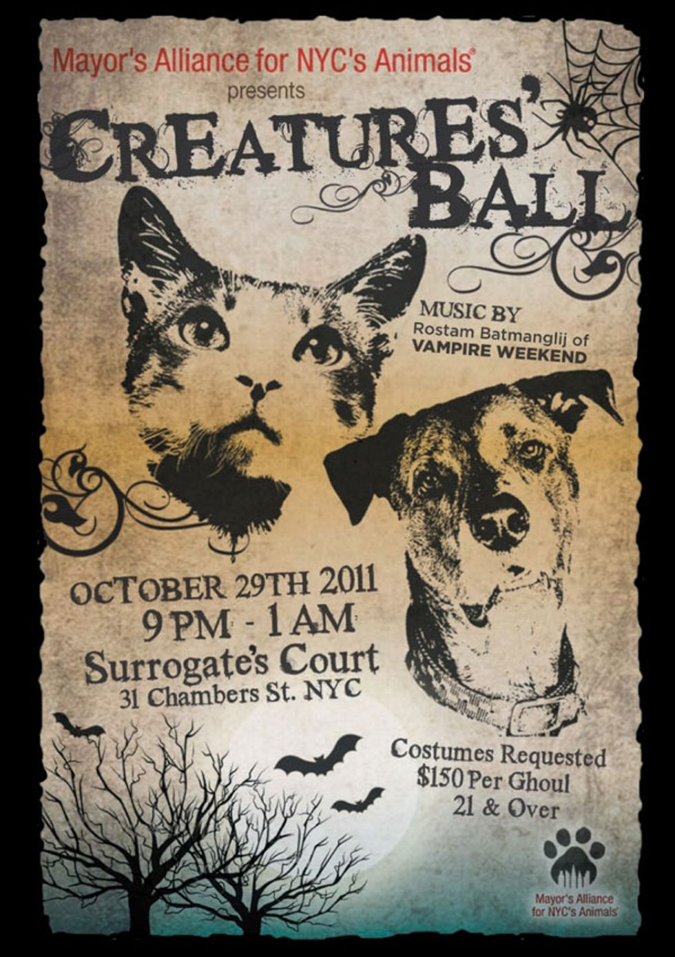 The Mayor's Alliance for NYC's Animals Presents the Creatures Ball!