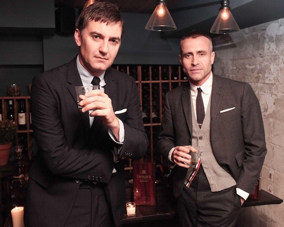 Thom Browne and Euan Rellie Host Dewar's Browne Bag Launch