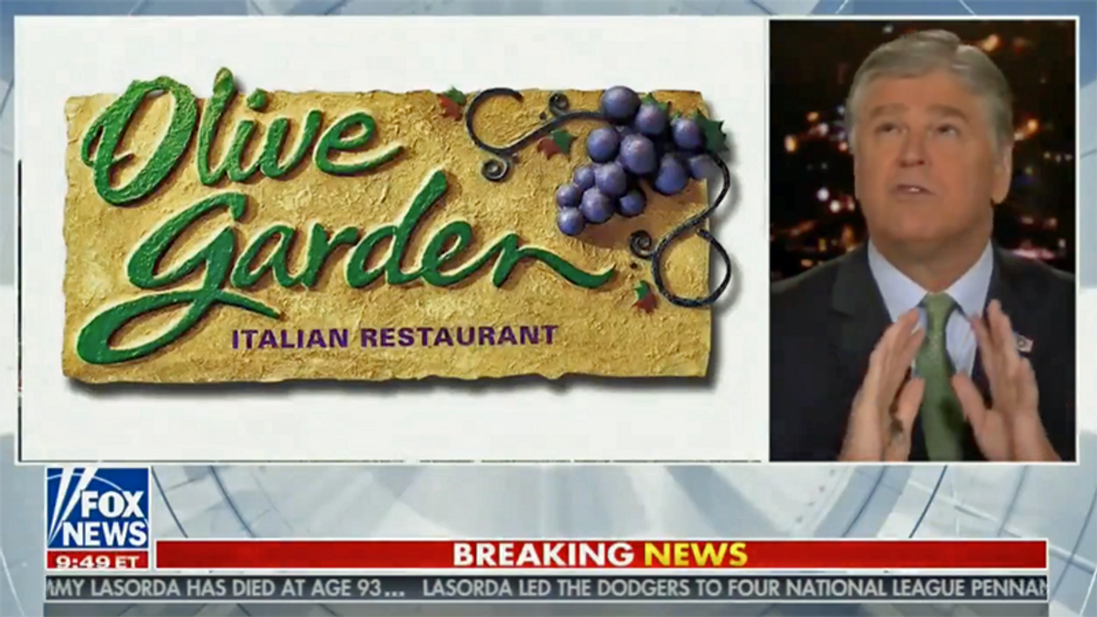 Amid calls for Trump to resign, Fox host goes in-depth on satirical tweet about Olive Garden