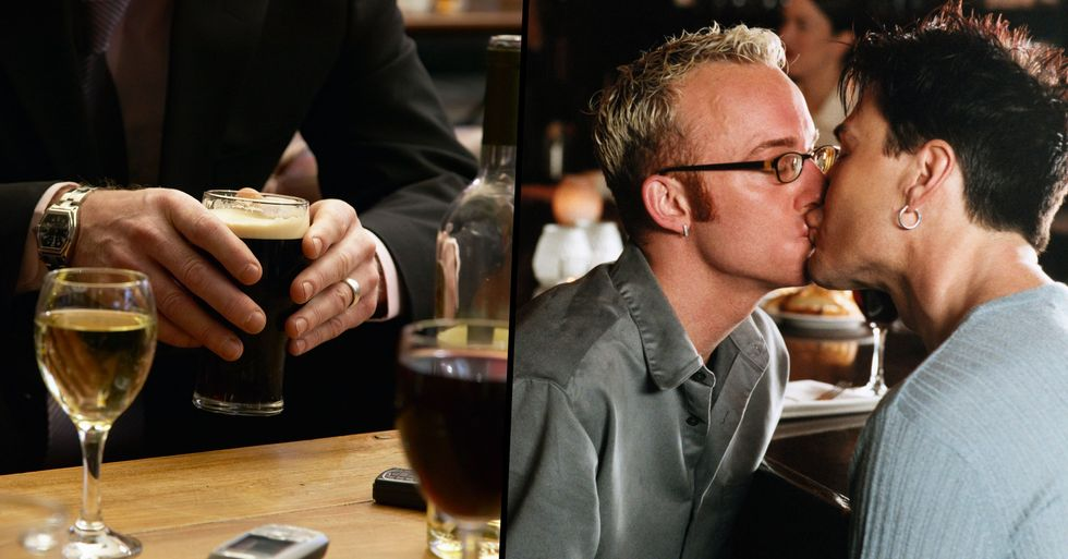Man Says He Can't Stop Kissing Other Men From His Office When Out for Work Drinks