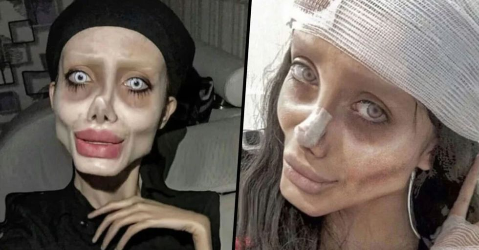 Iranian 'Zombie Angelina Jolie' Seen for the First Time in Years Without Photoshop or Trickery