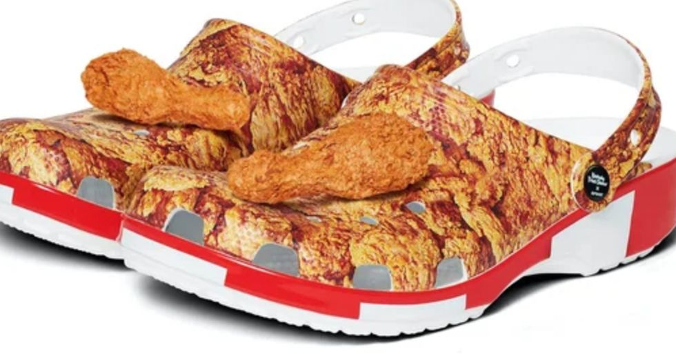 KFC and Crocs Have Teamed up to Create a Pair of Fried Chicken Crocs