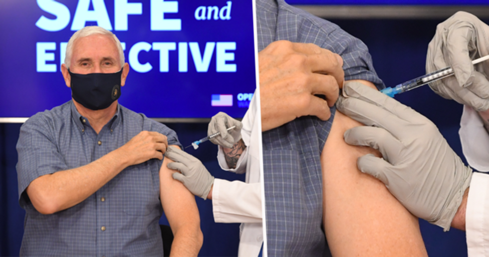Mike Pence Gets COVID-19 Vaccine Live on TV