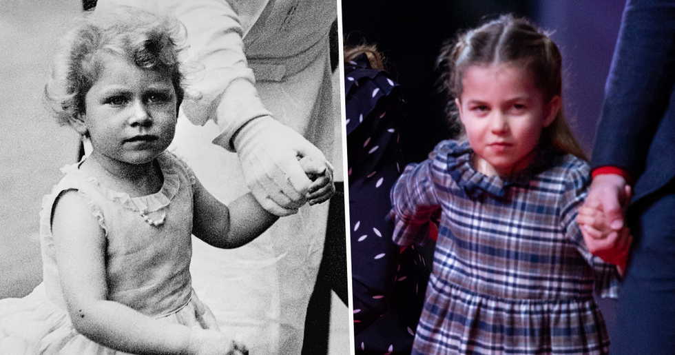 Princess Charlotte is Mini-Me of Great-Grandmother The Queen in New Christmas Photo