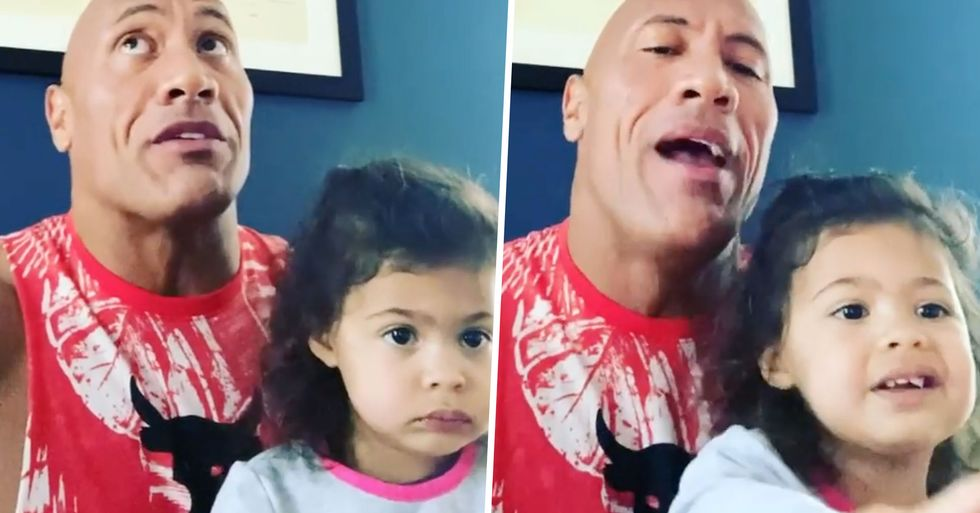 The Rock's Daughter Demands He Sings Along to His Moana Character 'for the 937th Time'