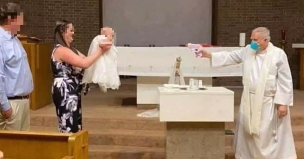 Priest Uses Water Pistol to Baptise Baby During the Pandemic