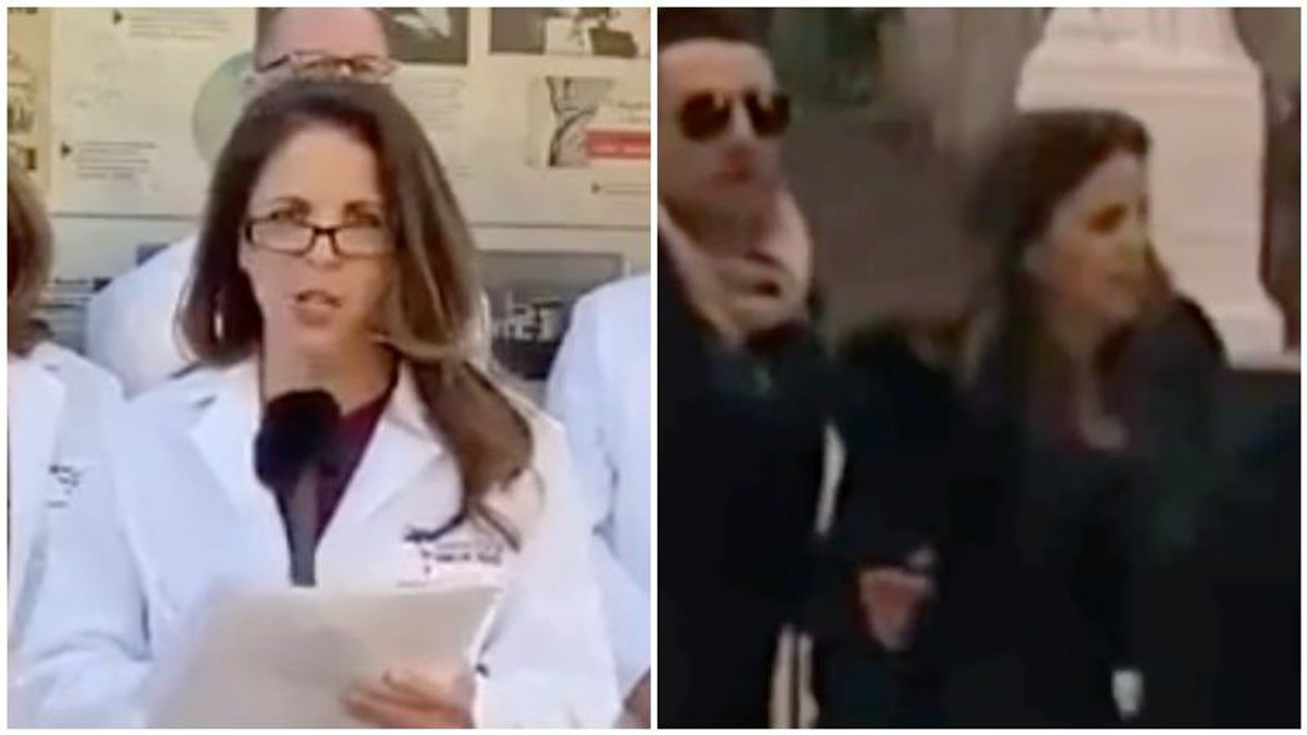 Infamous hydroxychloroquine-pushing doctor caught on video inside the Capitol during MAGA riot