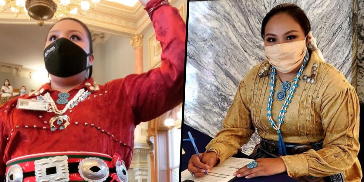 Christina Haswood Wore Traditional Navajo Attire To Her Swearing-in Ceremony