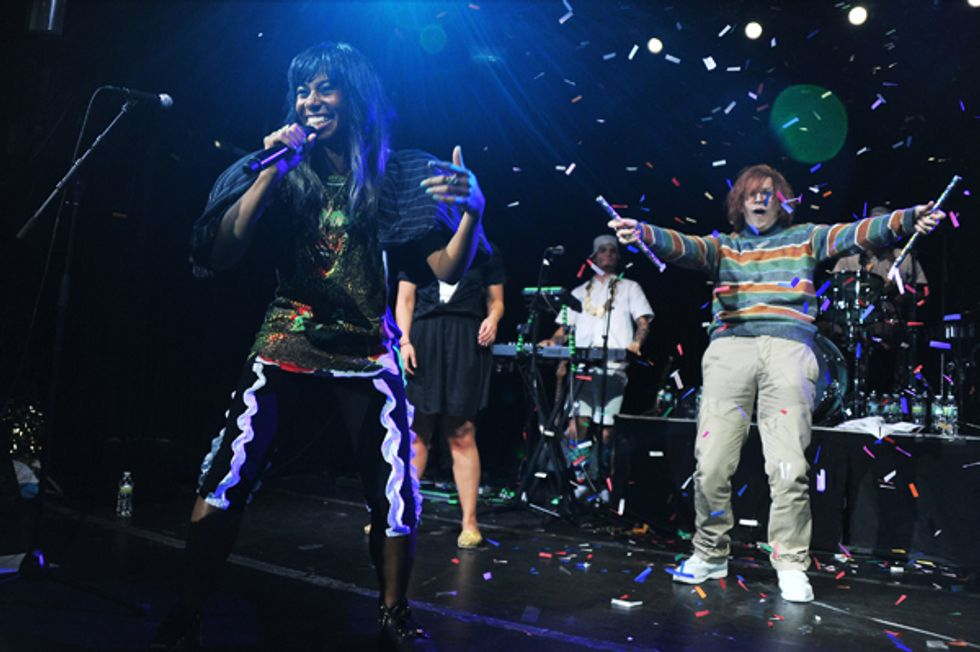 Santigold Treats Fans to Free Show With a Little Help From Pharrell and  SNL's Shy Ronnie