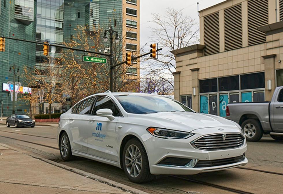 Mobileye autonomous test vehicle