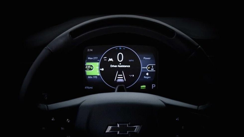 Teaser of the 2021 Chevrolet Bolt EV