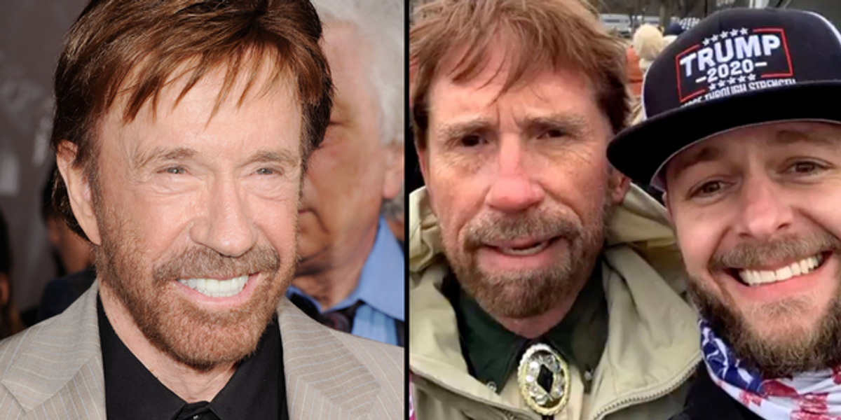 Chuck Norris Forced to Confirm he Wasn't At Capitol Hill Riots After His Lookalike is Spotted