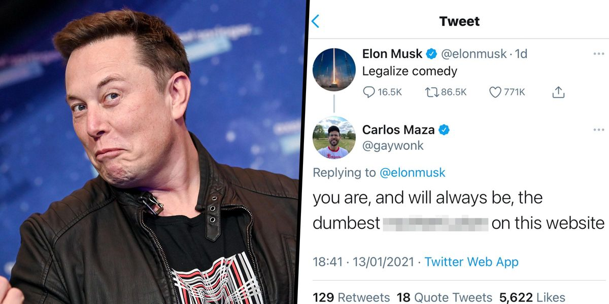 Elon Musk Sparks Outrage After Tweeting 'Legalize Comedy'