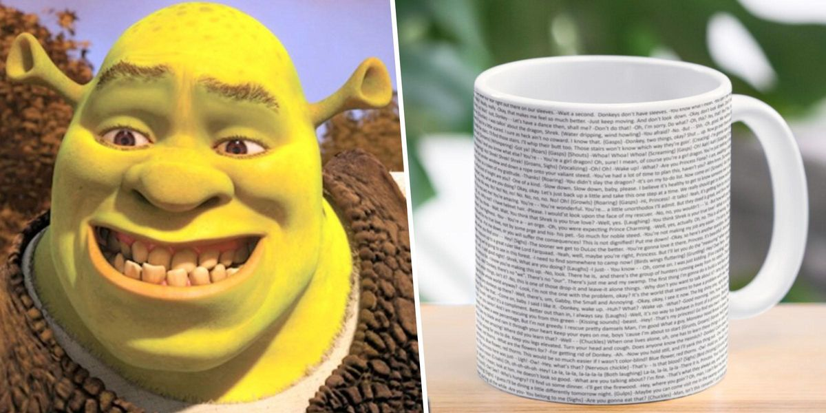 You Can Now Buy a Mug With the Entire 'Shrek' Script Printed on It