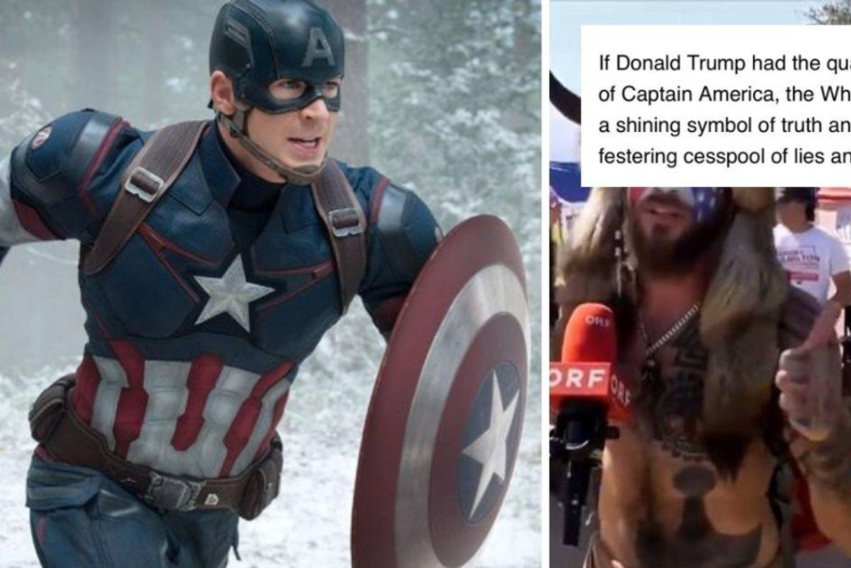 'Captain America' creator's son slams clueless Capitol rioters who used his symbol