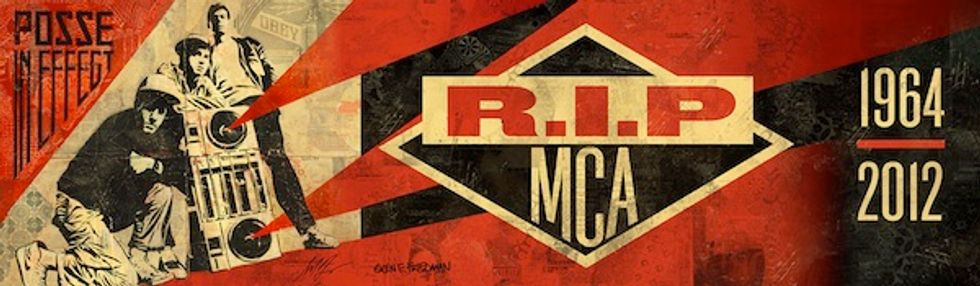 Shepard Fairey + Kaves' Tribute Billboards to the Beastie Boys and MCA