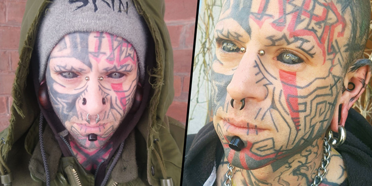 Dad With Tattooed Eyeballs Says Other Parents Are 'Scared' To Let Their Kids Play With His