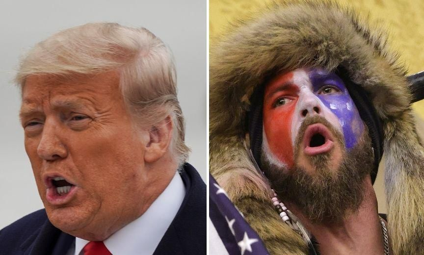 'QAnon Shaman' Hilariously Throws Trump Under the Bus With Pardon Request