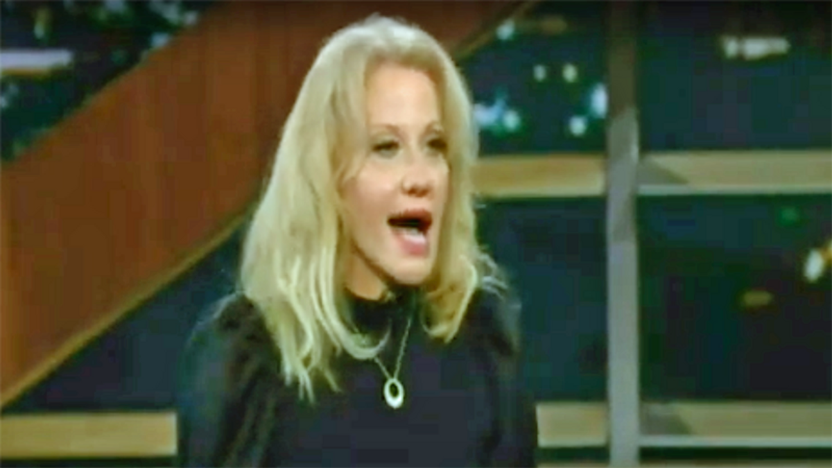 Kellyanne Conway attempts to rehab her reputation with appearance on HBO's Real Time with Bill Maher