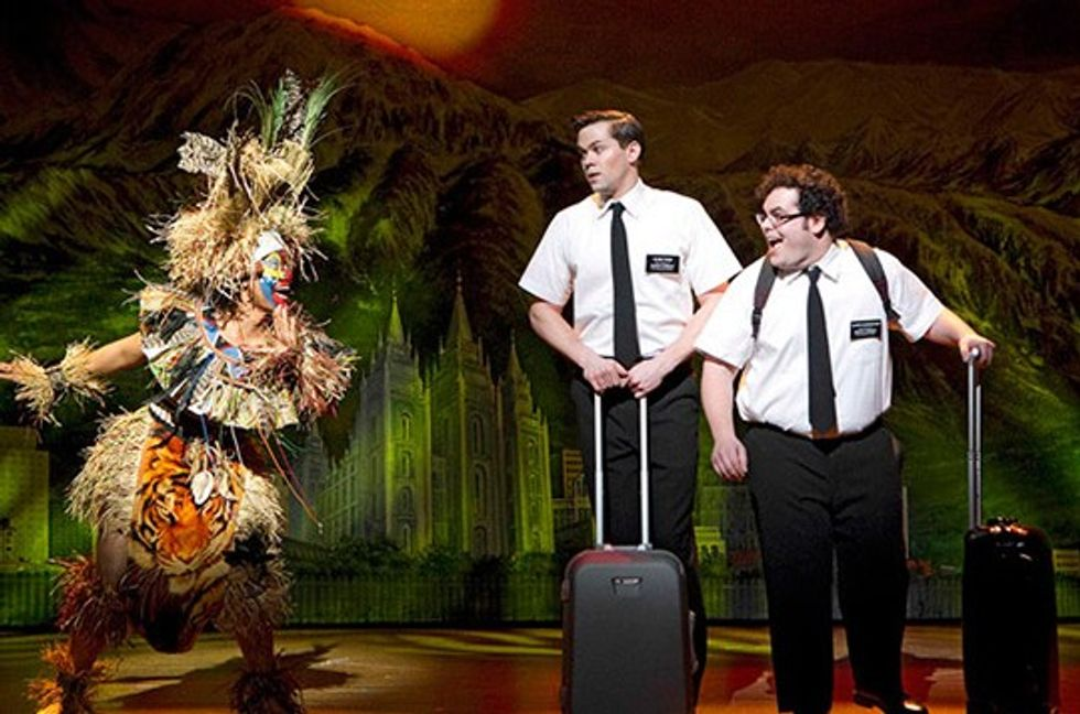 "Book of Mormon Stars Josh Gad and Andrew Rannells ""Turn It Off."""