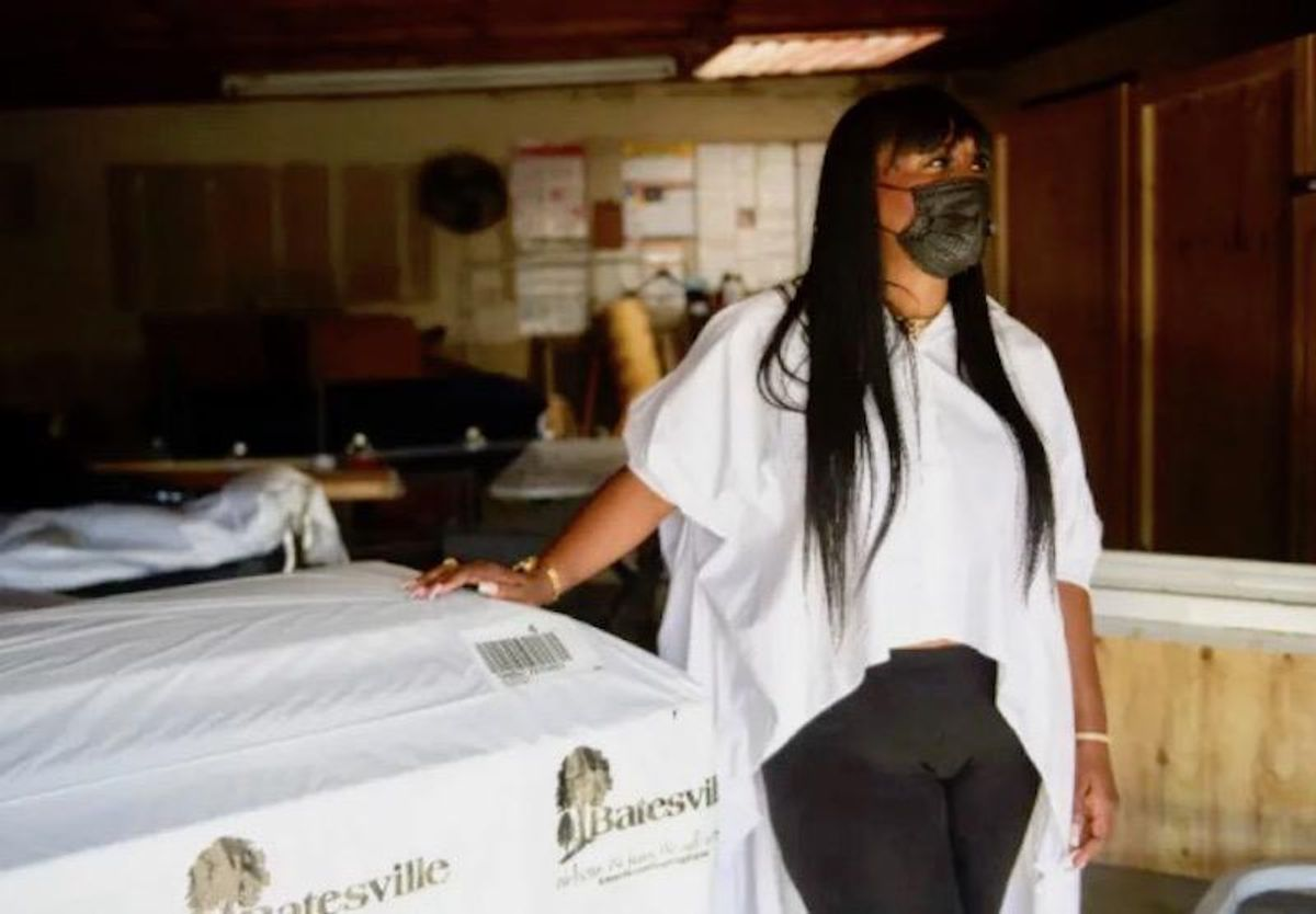 Coffin stored in break room as Los Angeles funeral home overwhelmed