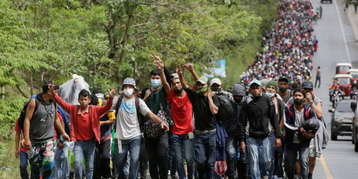 Thousands marching in migrant caravan to US demand Biden administration 'honor its commitments'