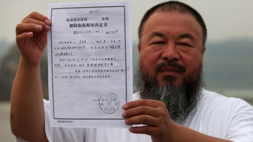 Artist Ai Weiwei Still Can't Travel Outside of China.