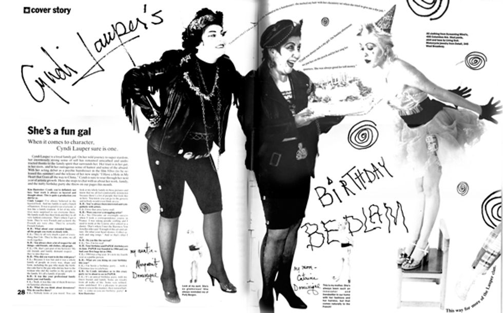 Cyndi Lauper's Birthday Fashion Spread From Our June 1988 Issue