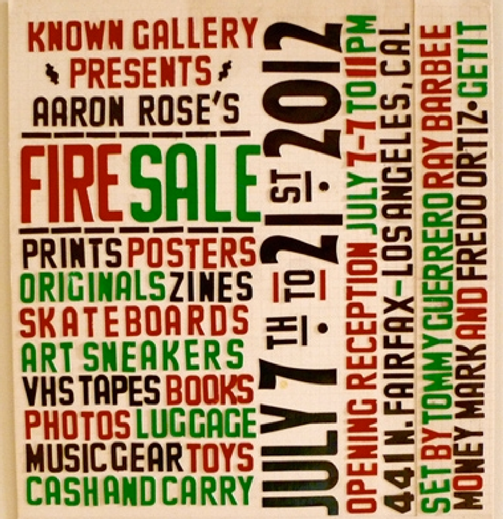 Aaron Rose Is Having a Hell of a Fire Sale