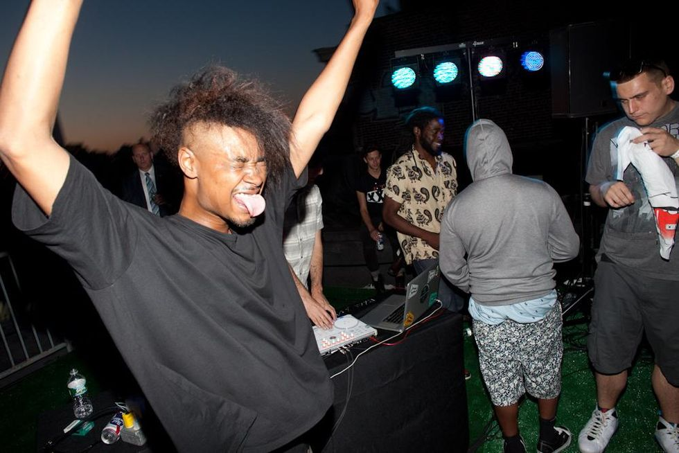 Scenes from SPIN MAGAZINE'S Rooftop Party with Danny Brown and Schoolboy Q