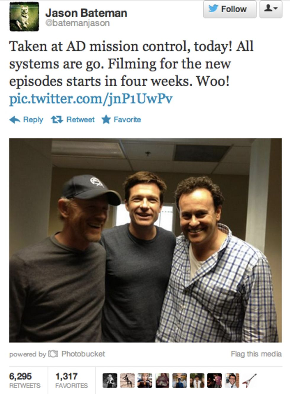 More Photographic Proof that the Arrested Development Revival is Coming (and Shooting in Four Weeks)