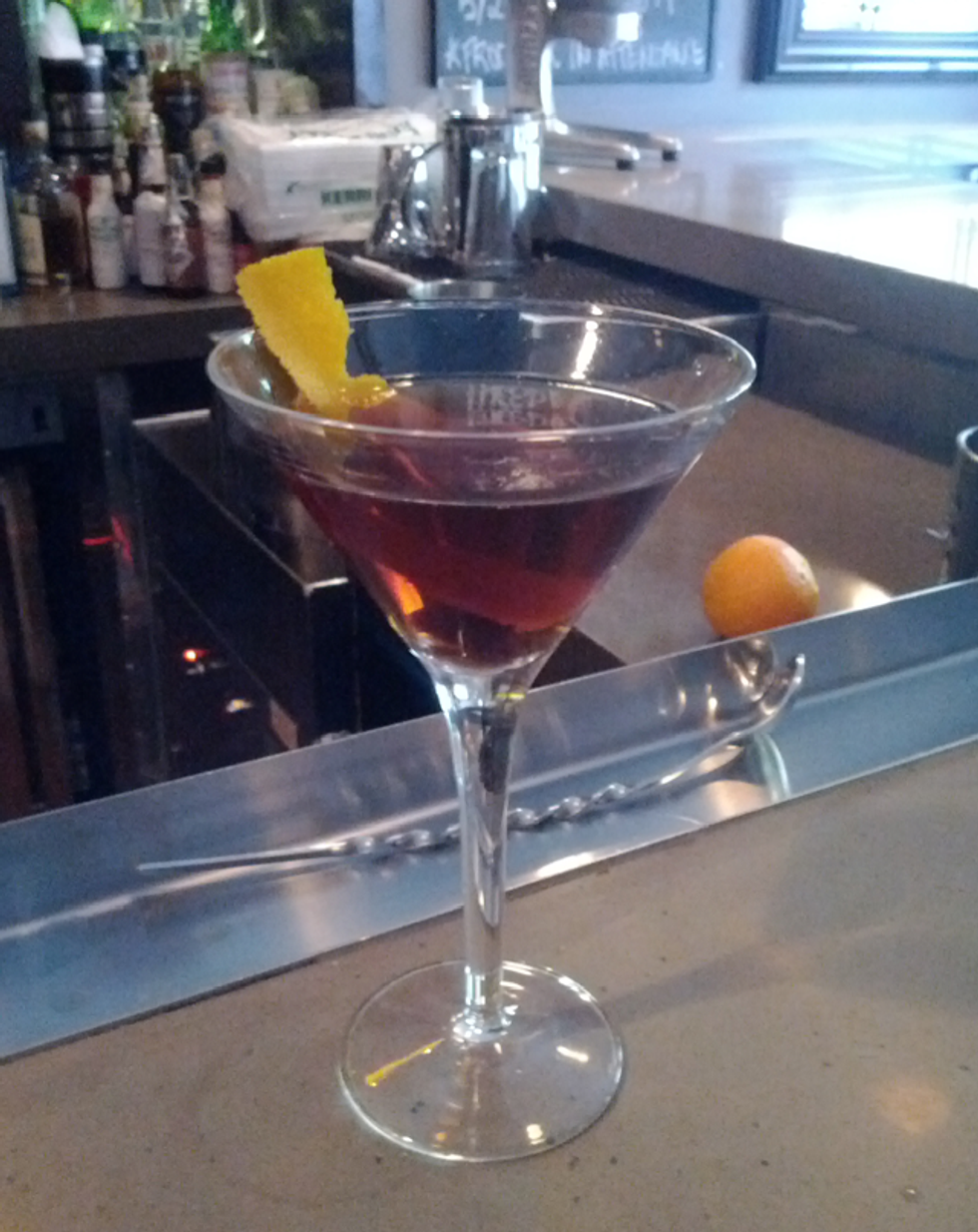 Cocktail of the Week: Stirring Up a Classic Manhattan at Anfora