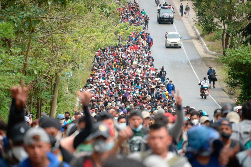Le immagini della carovana dei migranti dall