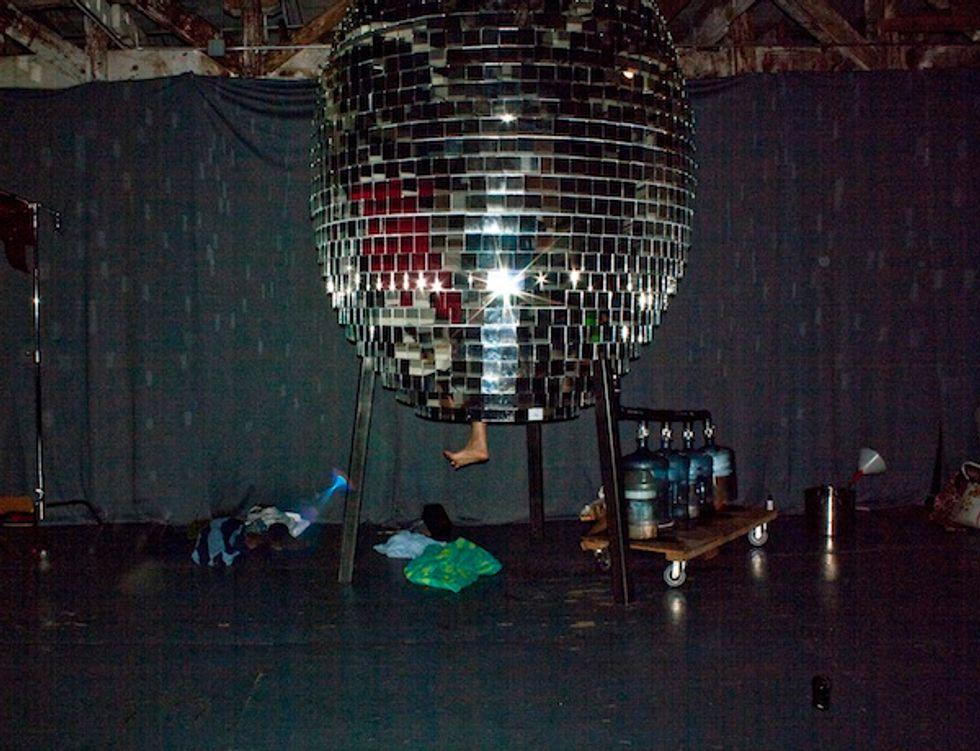 L.A.'s Crazy Underground Steam Room Inside a Disco Ball