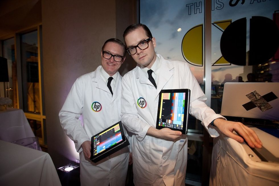 Scenes From HP's Color Experiment Bash at the Glass Houses