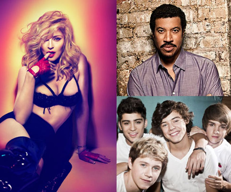 Top Of the Pops: Madonna, One Direction + Lionel Richie