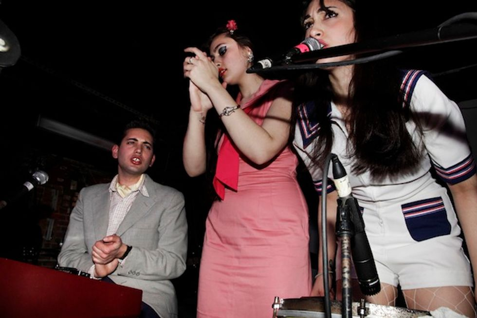 Scenes from Early Rock 'n' Roll Trio Kitty, Daisy and Lewis at Mercury Lounge