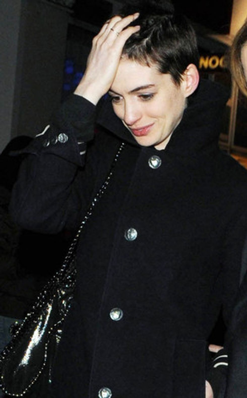 The Morning Funnies: Anne Hathaway's Haircut + Selleck Waterfall Sandwich