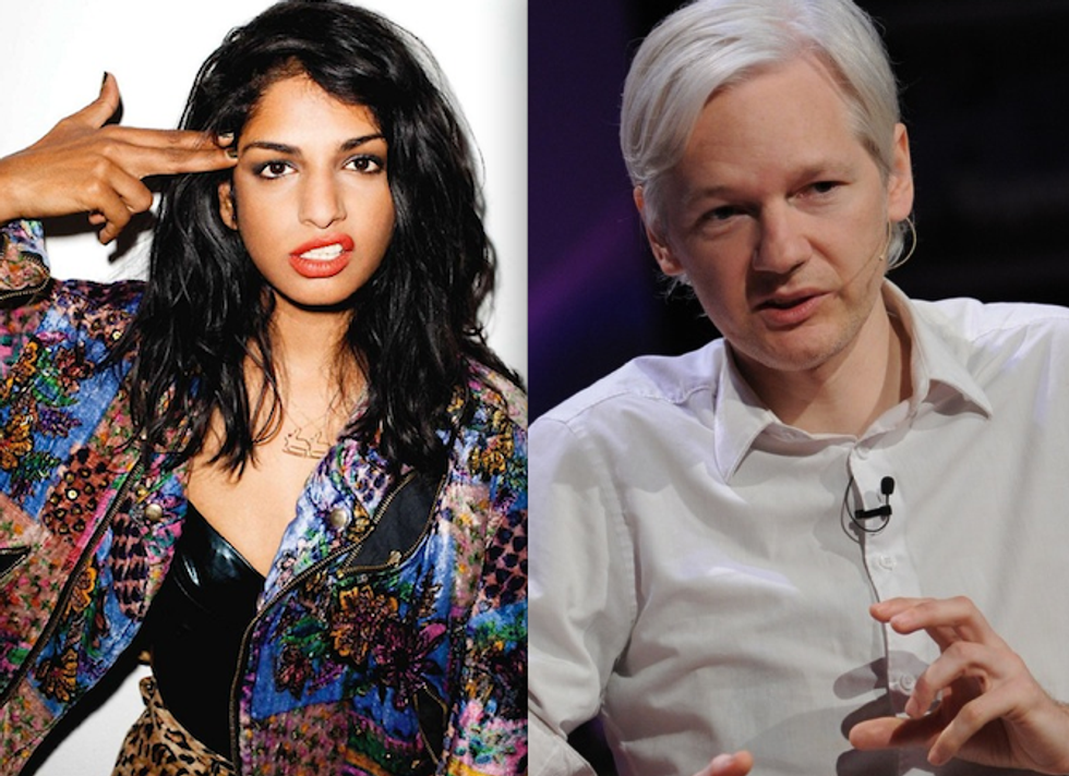 M.I.A. Wrote the Theme Song for Julian Assange's New Talk Show