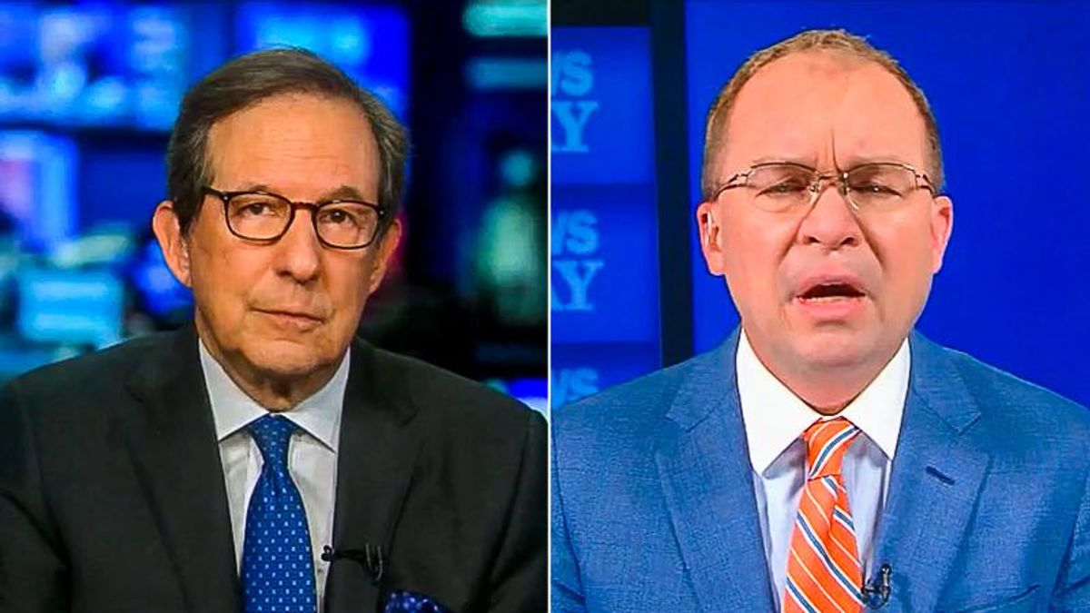 'You didn't have the spine': Chris Wallace chews up Mick Mulvaney for resigning at the last minute