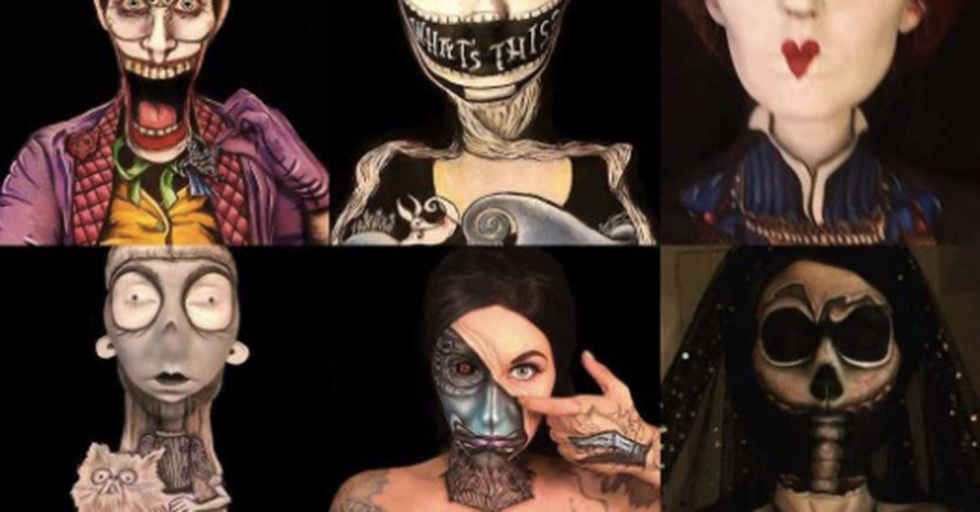 It Takes This Makeup Artist 20 Hours To Craft These Creepy Monsters, But...Look at Them!