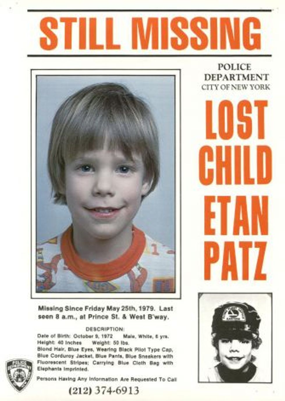 Remembering Etan Patz, Still Missing 33 Years Later