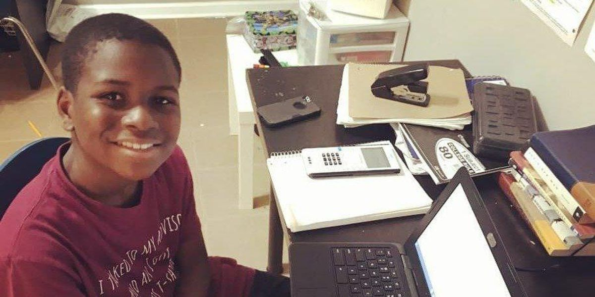 12-year-old prodigy Caleb Anderson is already a college sophomore