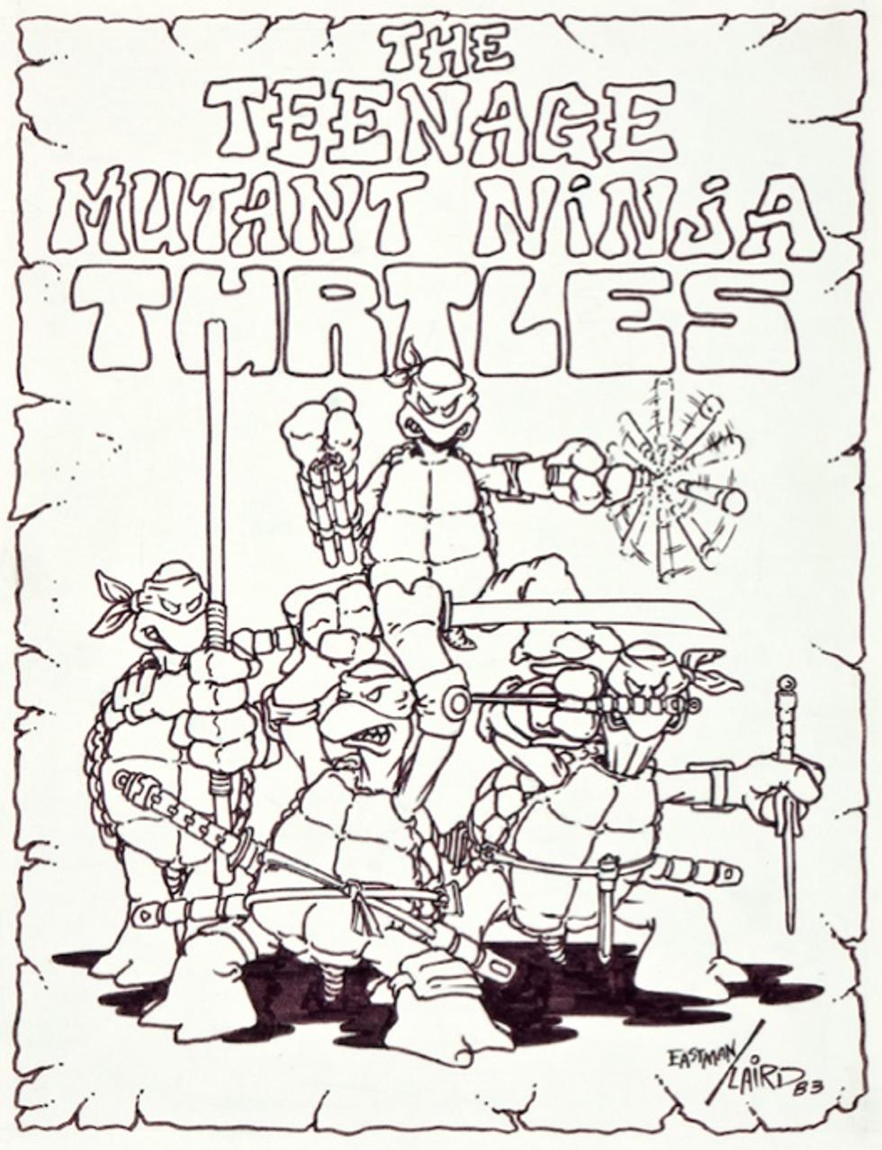 Look Inside the Burning Man HQ + The Original Teenage Mutant Ninja Turtles Drawing = Eight Items Or Less