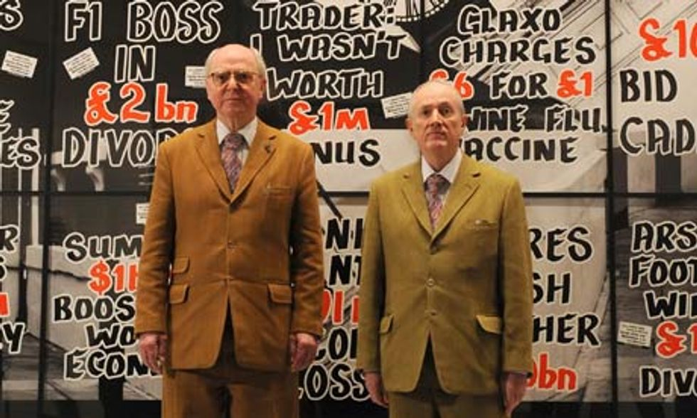 Tips for Today: Gilbert & George + Faile + The Hives